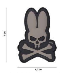 Patch 3D PVC Skull Bunny Gris (101 Inc)