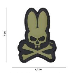 Patch 3D PVC Skull Bunny OD (101 Inc)