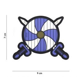PVC 3D Patch Viking Shield e Sword Blue (101 Inc)