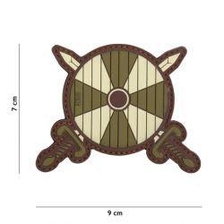 PVC Patch Viking Shield und Schwert OD (101 Inc)