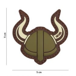Patch 3D PVC Viking Helmet Desert & OD (101 Inc)
