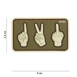 Patch in PVC 3D One Two Fuck Desert (101 Inc)