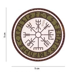 Patch 3D PVC Runes de Protection Sable et OD