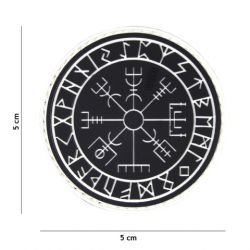 Patch 3D PVC Runes Protection Noir (101 Inc)