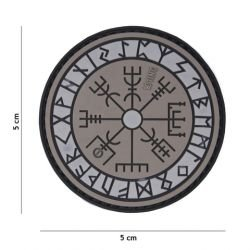 Patch 3D PVC Runes Protection Gris (101 Inc)
