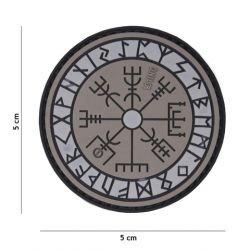 Patch 3D PVC Runes Protection Gris (101 Inc)