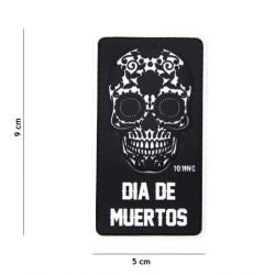 PVC-Patch Dia Black Muertos (101 Inc)