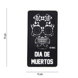 Toppa in PVC Dia Black Muertos (101 Inc)