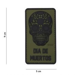 Patch in PVC 3D Dia di Muertos OD (101 Inc)