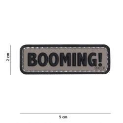 Patch 3D PVC Booming ! Noir & Gris (101 Inc)