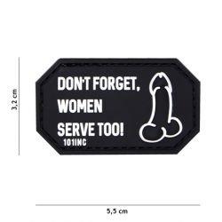 Parche de PVC 3D No te olvides de las mujeres ... Negro (101 Inc)