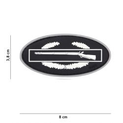 Patch 3D PVC Infantry Blanc (101 Inc)
