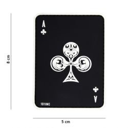 Patch 3D PVC Carte AS de Trefle Noir (101 Inc)