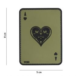 Patch 3D PVC Carte AS de Coeur OD (101 Inc)