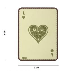 3D Coyote Heart Card PVC AS Patch (101 Inc)