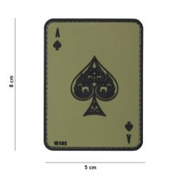 Patch 3D PVC Carte AS de Pique OD (101 Inc)