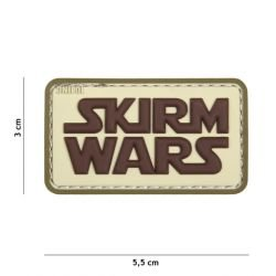 Patch 3D PVC Skirm Wars Coyote (101 Inc)