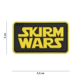 Patch 3D PVC Skirm Wars Noir & Jaune (101 Inc)