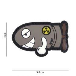 3D PVC lustiger Torpedo grauer Patch (101 Inc)