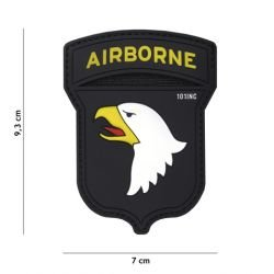 Patch 3D PVC Airborne 100st Noir (101 Inc)