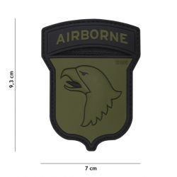 3D PVC Patch Airborne 100st OD & Black (101 Inc)