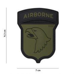 Patch 3D PVC Airborne 100st OD & Noir (101 Inc)