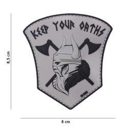Patch 3D PVC Keep your Oaths Gris (101 Inc)