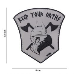 Patch in PVC 3D Keep your Oarths Grey (101 Inc)