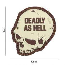 101 INC Patch 3D PVC Deadly as Hell Coyote (101 Inc) AC-WP4441305125 Patch en PVC