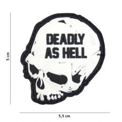 3D Deadly wie Hell White PVC Patch (101 Inc)