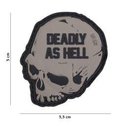 Parche de PVC mortal como el infierno gris (101 inc.)