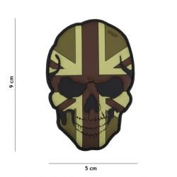 Parche de baja visibilidad de la bandera del cráneo de PVC 3D Reino Unido (101 Inc)