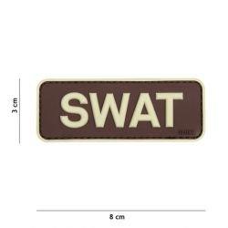 Patch 3D PVC SWAT Marron (101 Inc)