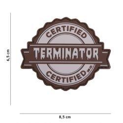 101 INC Patch 3D PVC Terminator Certified Gris (101 Inc) AC-WP4441305198 Patch en PVC