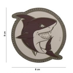 Patch in PVC 3D Shark Attack Coyote (101 Inc)