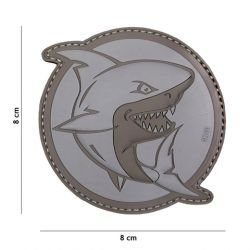 Patch 3D PVC Shark Attack Gris (101 Inc)