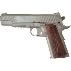 Cybergun Colt 1911 Rail Gun Culasse Fixe Stainless Co2