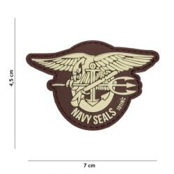 Patch 3D PVC Navy Seals Marron (101 Inc)