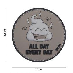 3D PVC den ganzen Tag jeden Tag grau Patch (101 Inc)