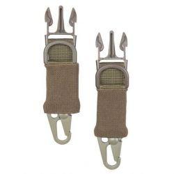 101 INC Karabinerhaken-Clips 2 Stück Desert (101 Inc) AC-WP259354D Gurt