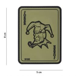 PVC 3D-Patch-Joker-Karte OD (101 Inc)