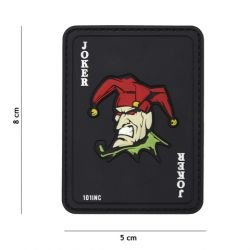 Patch 3D PVC Carte Joker Noir (101 Inc)