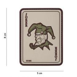 101 INC Patch 3D PVC Carte Joker Coyote (101 Inc) AC-WP4441305100 Patch en PVC