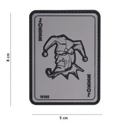 Patch 3D PVC Carte Joker Gris (101 Inc)