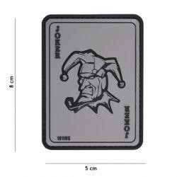 PVC 3D Patch Grau Joker-Karte (101 Inc)