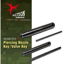 Llave de la válvula del ejército de acción / boquilla de perforación