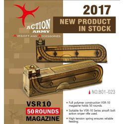 Action Army Chargeur VSR10 de 50 Billes (Action Army) AC-AAB01023 Chargeur de Fusils Sniper