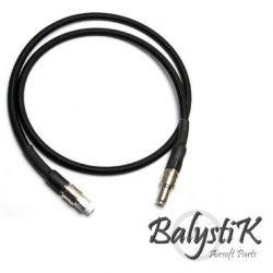Balistik Ligne Balistik Deluxe Haut débit Noir Connecteur Europe AC-BAREMDLX08BK HPA