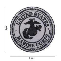 Parche de PVC gris del Cuerpo de Marines de EE. UU. 3D (101 inc.)
