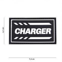 101 INC Patch 3D PVC Charger Noir (101 Inc) AC-WP4441305248 Patch en PVC